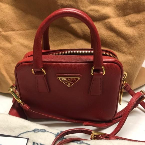 92c1bd7a322d Prada Bags | Saffiano Lux Mini Cross Body | Poshmark